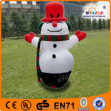 small advertising inflatable snowman for Christmas