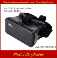 Google Cardboard Plastic 3d vr glasses for IOS and android smartphone 4inch to 6inch