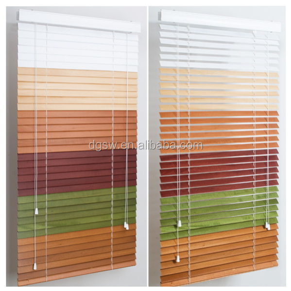 Ready made PVC fauxwood Rainbow colored window Blinds /Rainbow Blinds