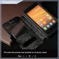hot selling cheap price universal flip phone case for 4.3 inch /4.5 inch /5.0 inch