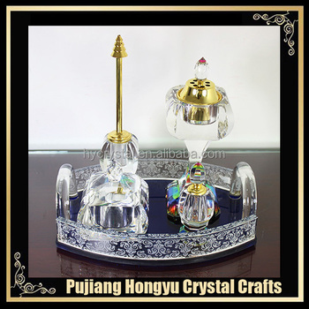 AAA high quality crystal arabic incense burner sets
