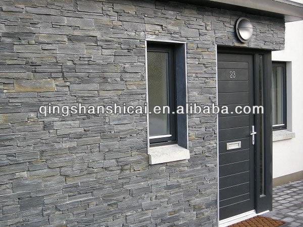 black Mica Schist cement ledgestone panels