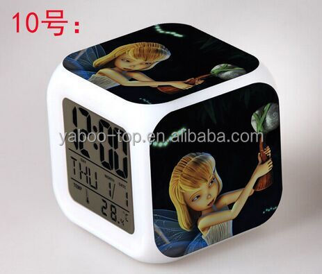 (2018 Top) European and American Movie Tinker Bell Alarm Clock, Digital Alarm Clock , Toy Clock