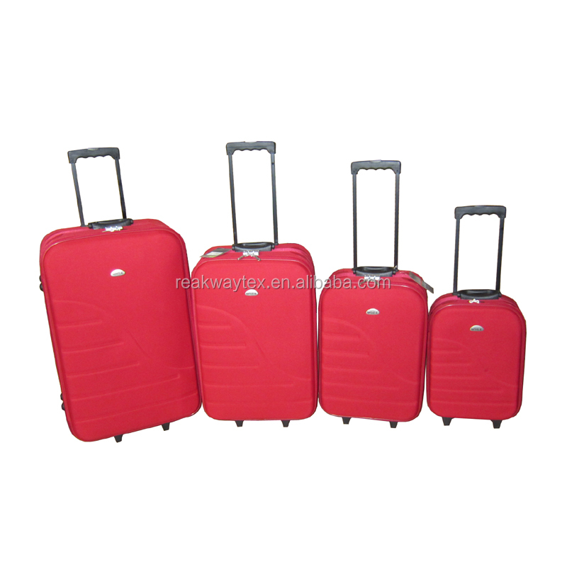 China Luggage Factory Supply Cheap Promotional Omega 3pcs or 4pcs Eva Trolley Luggage Suitcase Sets