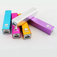 Cheap Promotion Gifts Super Slim Power Bank Charger Lipstick Mobile Portable Power Bank 2600mah