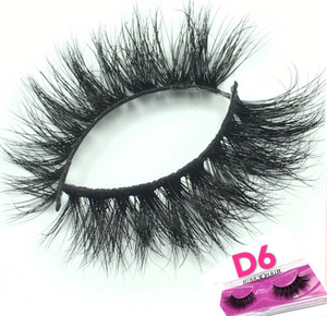 D6 Mink Eyelashes 3D Mink Lashes Thick HandMade Full Strip Lashes Cruelty Free Korean Mink Lashes