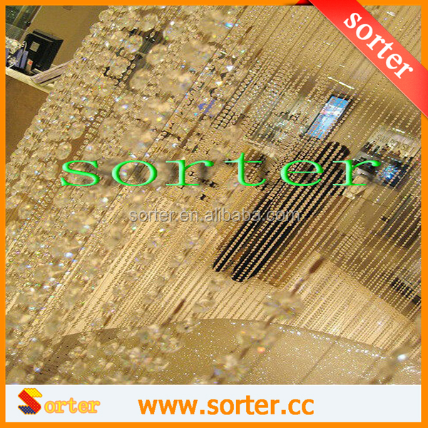 High quality Crystal beads Glass curtain