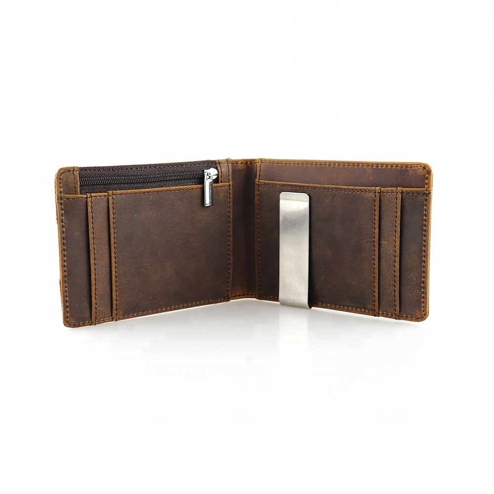 KID Customized Classical Luxury rfid Money Clip Men Slim leather <strong>Wallet</strong>