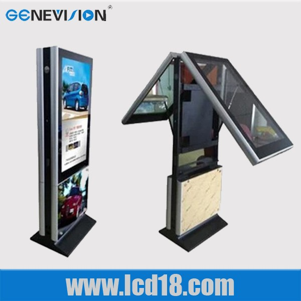 65 inch floor standing double sided lcd kiosk totem for advertising (MAD-D6565)
