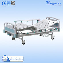 Hospital CE approved cheapest functions 2 crank manual patient bed