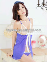 Accept paypal new fashion transparent babydolls sexy lingerie in uae