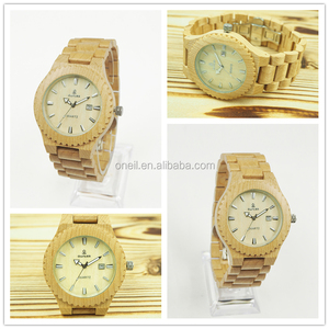 Social engraved bezel wooden strap wristwatch with Paper Gift Box woman size elegant wooden watch water resistant