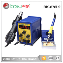 BAKU High-quality double LCD digital mobile phone bga rework station 2 in 1 hot air soldering station