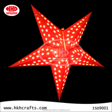 2015 Christmas light decoration origami paper star lantern pattern wholesale