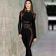 2016 wholesale hottest sexy see through long sleeve women bandage black jumpsuit