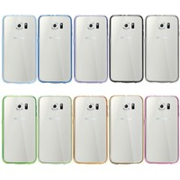 Shock-Absorption Flexible Reinforced Frame Soft TPU mobile phone case for samsung galaxy S6