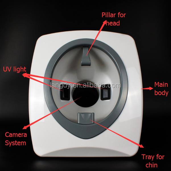 3D face scanner/3D magic software magic mirror skin analyzer