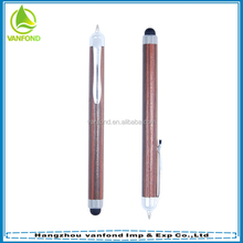 High quality promotional eco rosewood ball pen with stylus