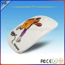 laptop foldable mouse computer accessories 2 4g rf wireless mouse 2.4g receiver super slim wireless mouse star head portrait