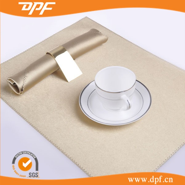 Coffee Shop Used Polyester Spun Soild Color Table Napkin