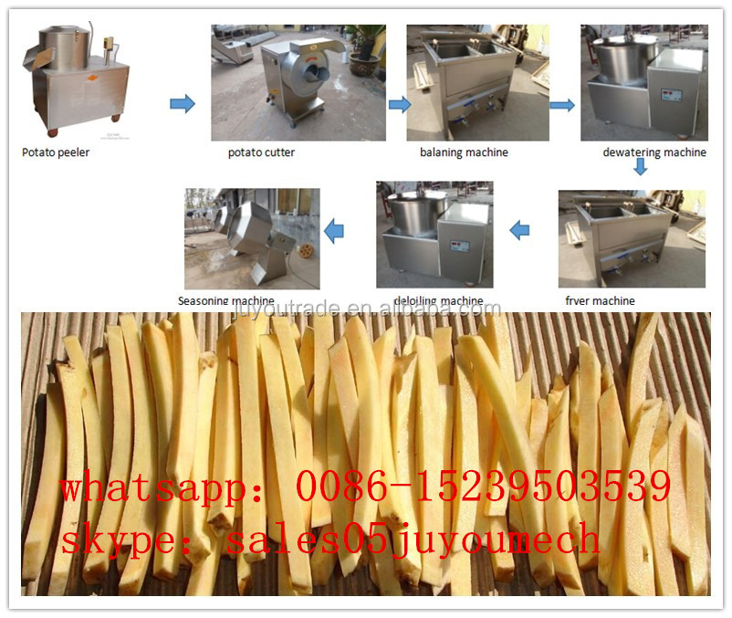 100kg/h fresh potato chips slicing machine production line / frozen French fries machinery / potato flakes maker equipment