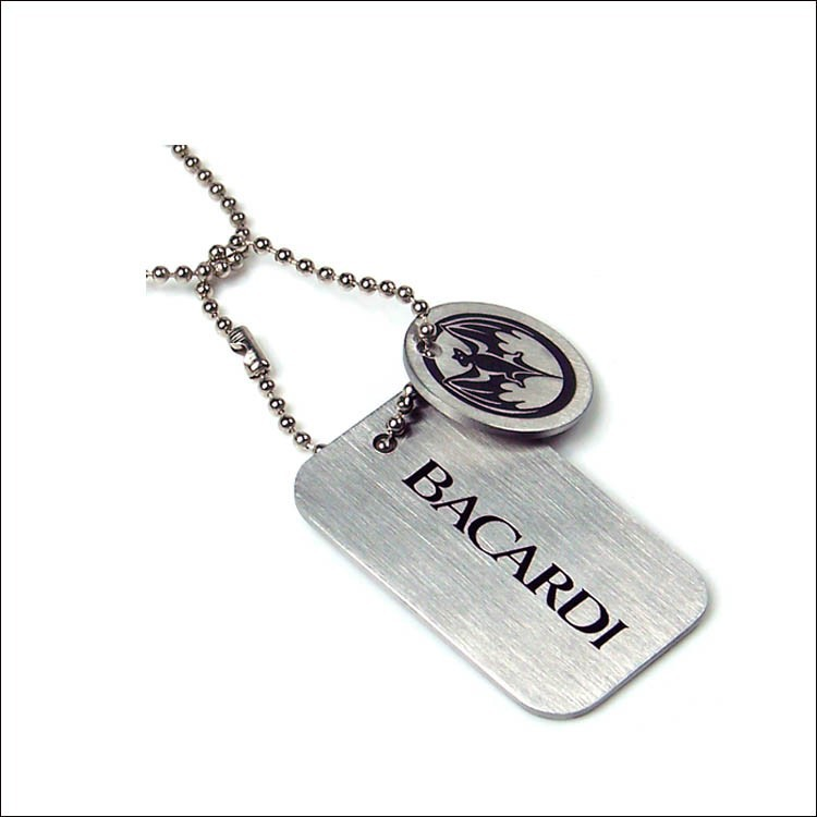 custom etching logo aluminum dog tag, anodized aluminum dog tag