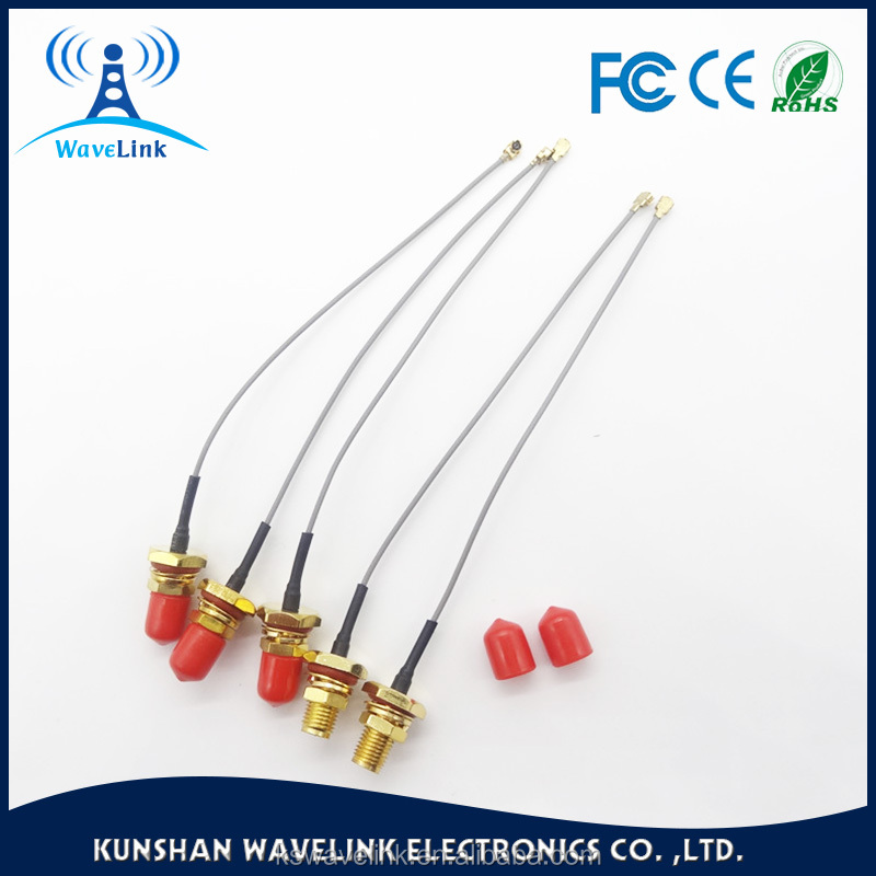 SMA Jumper / Pigtail Cable High quality <strong>U</strong>.FL to SMA RF cable
