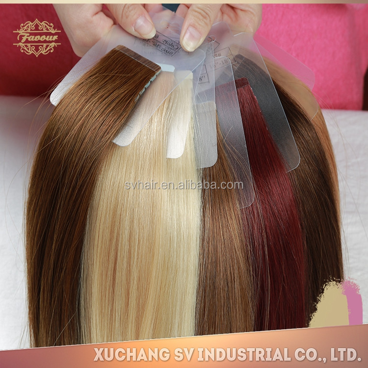 "All Color 14""-26"" Brazilian Hair Blonde Color Unwefted Human Tape-in Hair Extension"