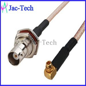 High quality fiber optic jumper cable adapter MMCX male right angle to BNC female with RG316 cable assemble jumper
