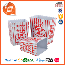 Custom Size and Print Plastic Melamine Custom Popcorn Boxes with Food Grade