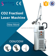 CE approval skin resurface surgical scar removal co2 laser machine