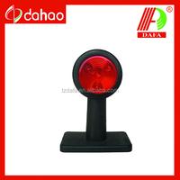 12V LED Side Marker Light with red and white lens