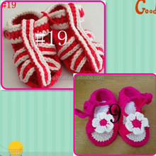 Pink Baby Girls Infant Crib Crochet Handmade Casual Shoes Size: #19