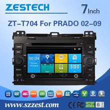 car cassette and cd dvd and gps for Toyota Prado with car audio system with reverse camera