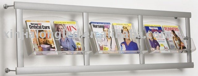 acrylic wall mounted magazine rack buy wall mounted magazine magazine display product on alibabacom