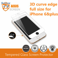 New arrival! 3D curve edge full size tempered glass screen protector for iphone 6/ iphone 6 plus