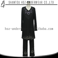 A1#Elegant design long sleeve blouse long pants cotton abaya crystal designs islamic clothing wholesalers in mumbai black abaya