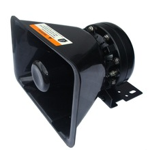 black police 12V powerful aluminum speaker horn