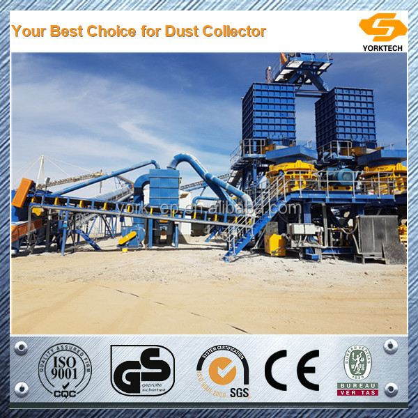 YORK Pulse bag dust extractors for stone crusher plant
