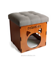 JBK New Arrival High Quality Household Indoor Leather Foot Stool Pet Cat House