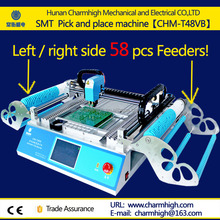58pcs feeders double stack pick and place machine with Vision system Desktop SMT LED