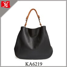 2017 New Black Oversized Faux-Leather Tote Casual Shopper for Ladies