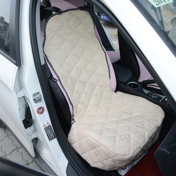 Quilted Car Bench Seat Cover for Pets - Beige