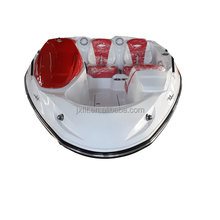 red 4.67m fiberglass speed boat without outboard engine