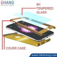 Full Cover Phone Case with Tempered Glass Screen Protector for iPhone 6 and 6 Plus