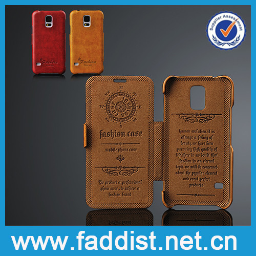 Hot selling for samsung s5 case PU leather for samsung s5 case