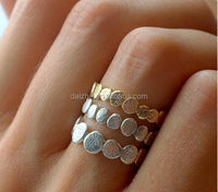 Holiday Sale Gold and Silver Pebble Ring Set Stacking Ring Set Stackable Ring