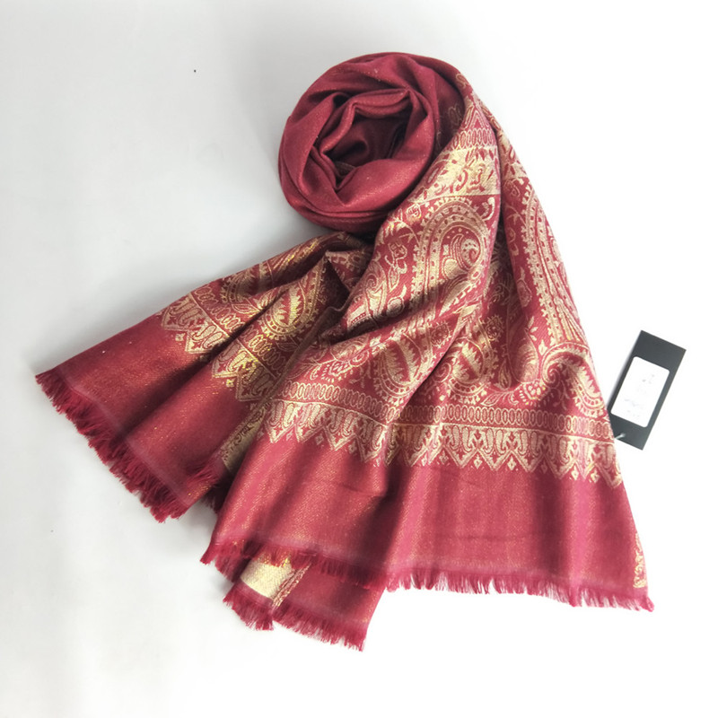 Lady scarf 2018 and shawl grace national wind pashmina golden silk