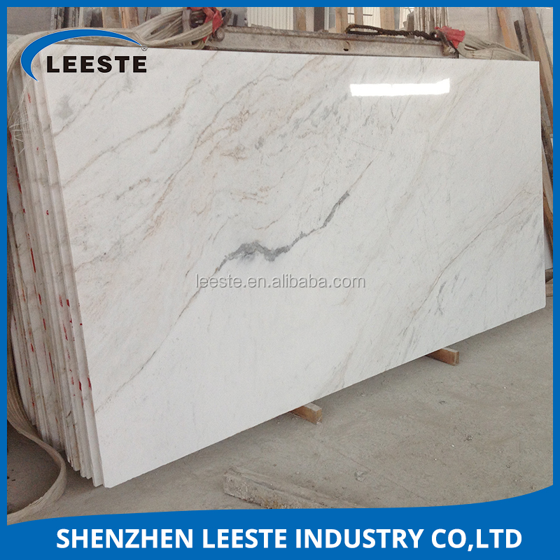 High quality Natural Statuario Snow White Marble Slab