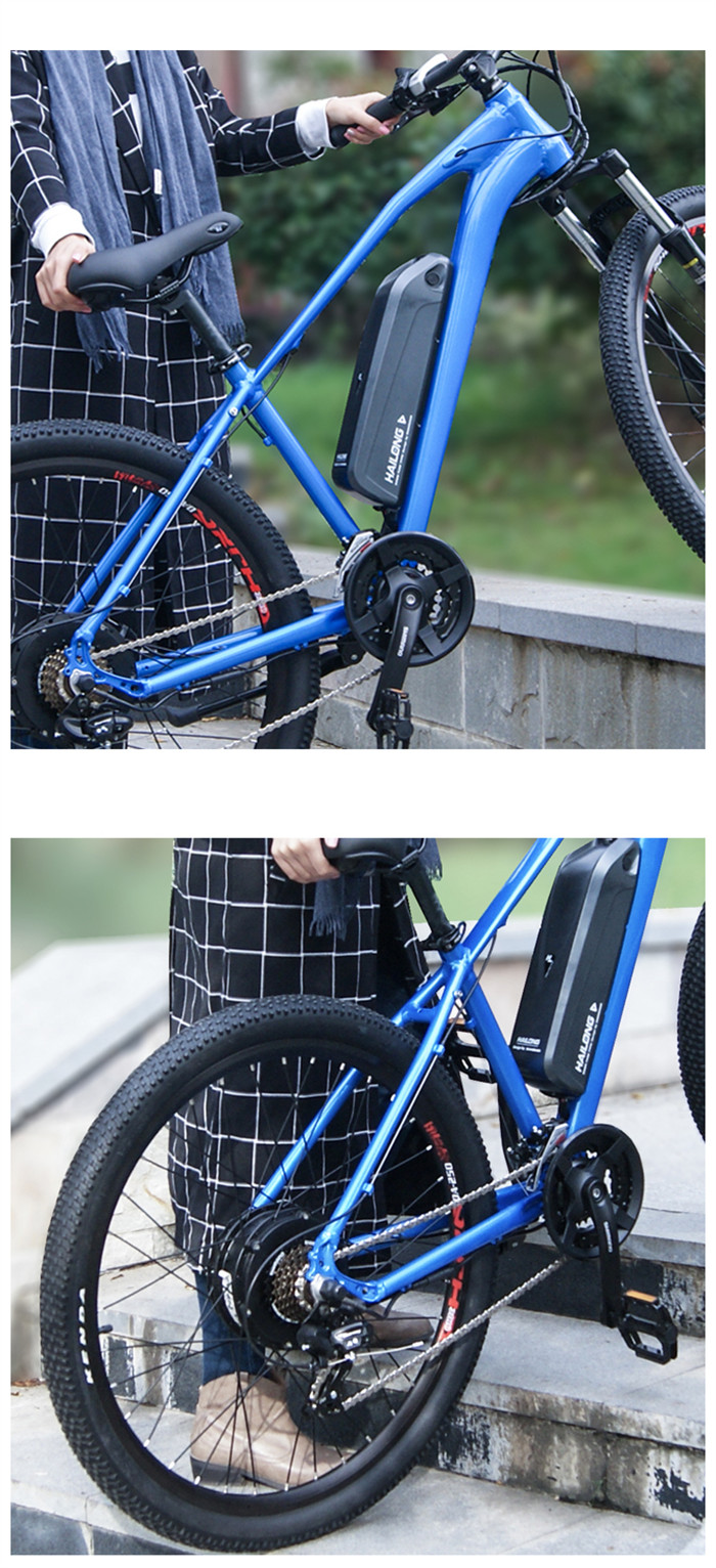 Shock absorbing Aluminum Alloy frame 27.5'' ELECTRIC MOUNTAIN BIKE for unisex with LCD display, made in China
